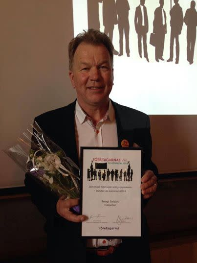 Danderyds mest företagarvänliga politiker 2014 är Anders Paulson (M) och Bengt Sylvan (FP)