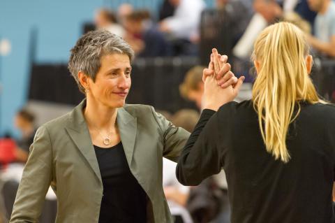 Alvik Baskets damlags coach Jurgita Kausaite