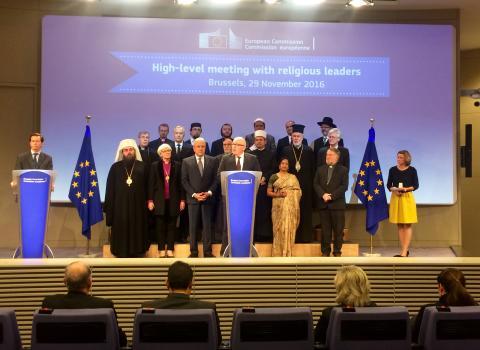 Ärkebiskopen mötte EU-ledare och religiösa företrädare