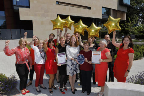 From fourth person front row, left to right, Tracy McCafferty,  Caroline Warburton, VisitScotland Regional Leadership Director, Councillor Judy Hamilton, Councillor Helen Law and Heather Stuart. Photographer: Graham Clark