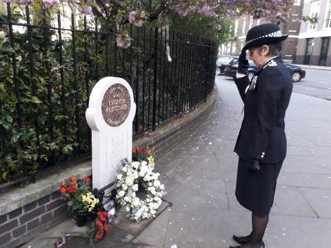 Commissioner at memorial