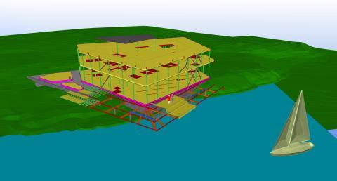 Victoriahusets komplexa konstruktion har byggts med hjälp av Teklas BIM-teknik