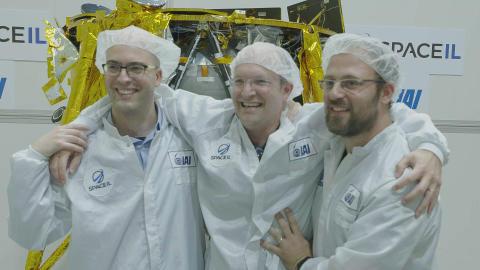 De tre grundlæggere af SpaceIL