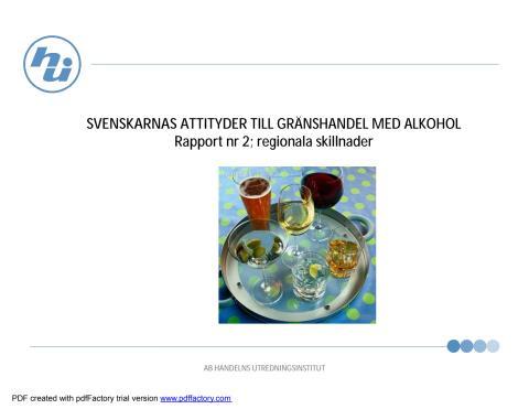 Svenskarnas attityder till alkohol: regionala skillnader