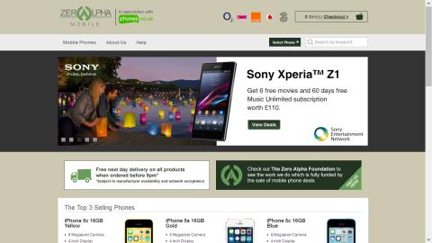Zero Alpha Mobile Launches New On-line Mobile Phone Shop!