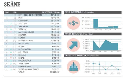 Vilket företag omsätter mest i ditt län?