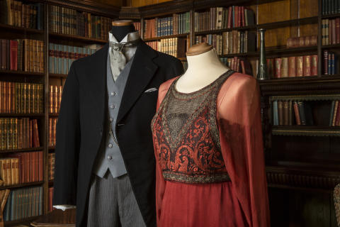 Dräkter burna av Matthew Crawley och lady Mary Crawley