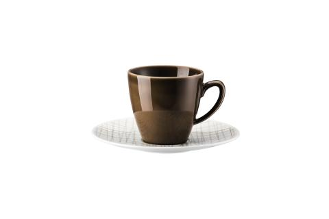 R_Mesh_Line Walnut_Cup and saucer 4 tall
