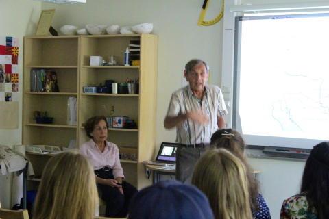 Besök av förintelseöverlevare berör milstenselever