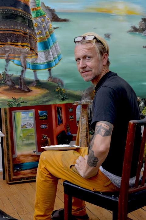 Bakom dubbla identiteter - konstnärssamtal med Ernst Billgren