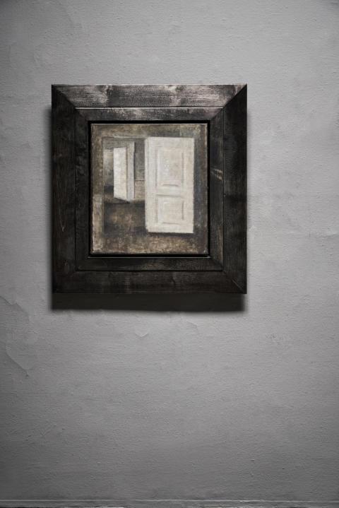 """""""Hvide døre. Interiør fra Strandgade 25"""". (White Doors, Strandgade 25) 1913."""
