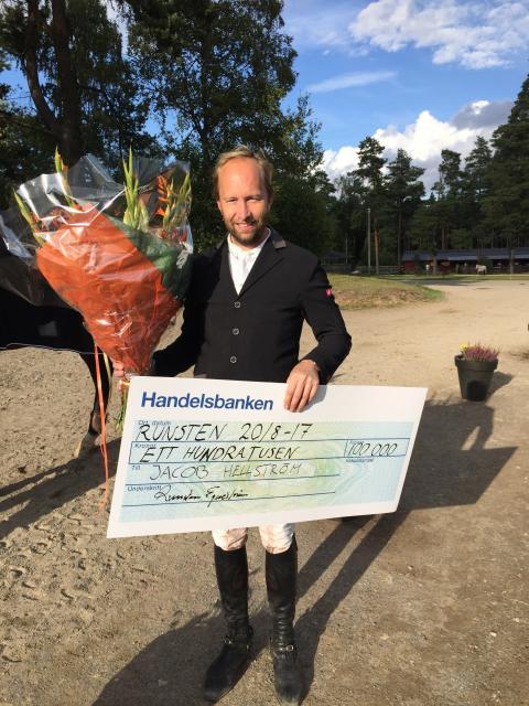 Jacob Hellström segrare i Runsten Equestrian Grand Prix