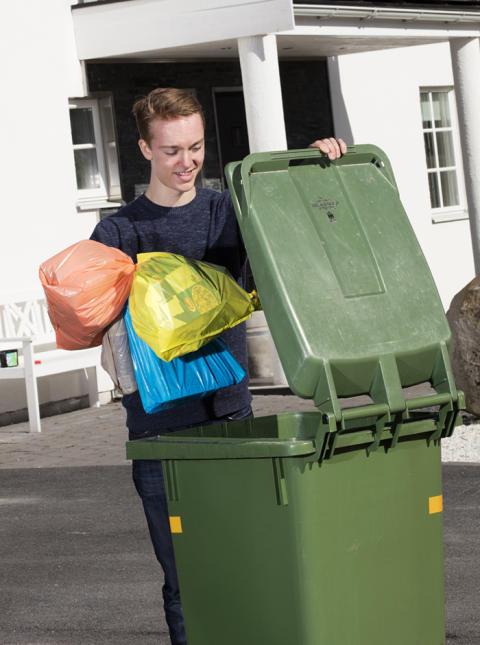 Succé för färgsortering av avfall