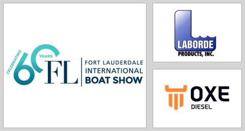 Laborde displays the OXE Diesel at FORT LAUDERDALE INTERNATIONAL BOAT SHOW