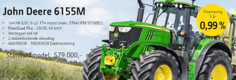 Kampagne på JOHN DEERE 6155M fra SEMLER AGRO