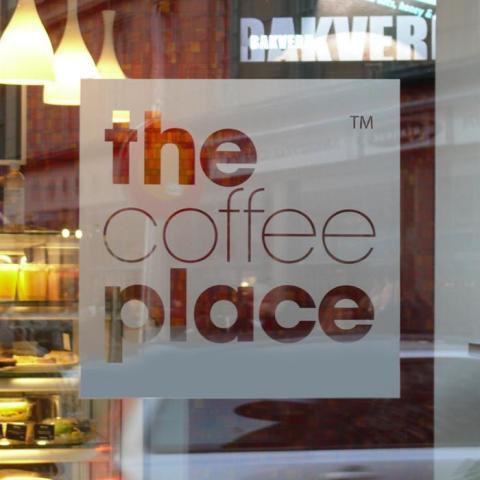Fönsterdekor The coffe place