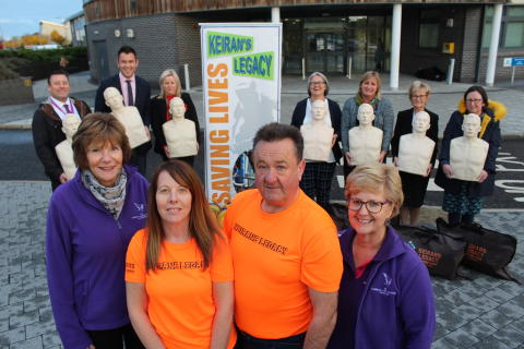 Keiran's Legacy and Gordon&Ena Baxter Foundation reps
