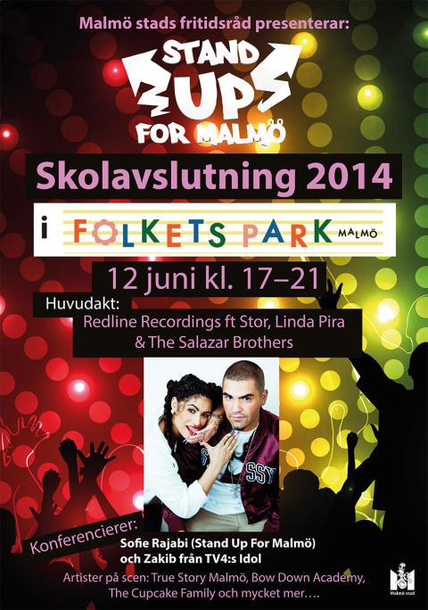 Gemensam konsert i Folkets park för Malmös ungdomar på skolavslutningen