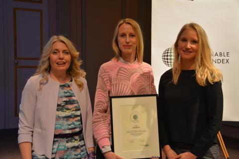 Prisutdelning Sustainable Brand Index 2017 - Åhléns Årets Insats