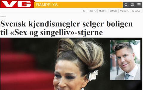 Svensk kjendismegler selger boligen til «Sex og singelliv»-stjerne
