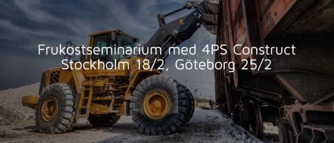 4PS Construct - frukostseminarium för byggbranschen [Stockholm]