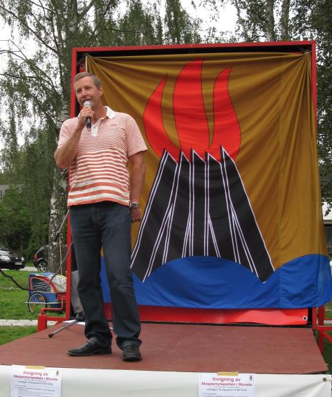 Tomas Hansson inviger Skeppsmyreparken