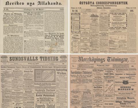 KB:s söktjänst Svenska dagstidningar även på fyra universitetsbibliotek
