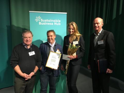 De briljerade inför jury och publik - kammade hem South Sweden Cleantech Award 2017!