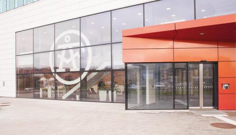 Fricos luftridåer i ÅF-huset, en framträdande och energieffektiv byggnad