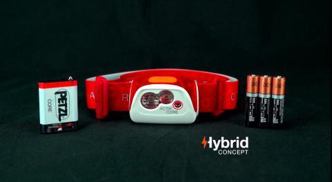 Nyhet! Petzl HYBRID pannlampor med två energikällor