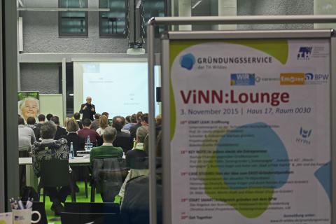 """Netzwerktreffen für Existenzgründer und Mutmacher: """"ViNN:Lounge"""" am 2. Dezember 2016 an der Technischen Hochschule Wildau"""