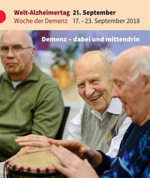 """""""Demenz - dabei und mittendrin"""" - Gemeinsame PM von DAlzG, DGGPP und Hirnliga zum Welt-Alzheimertag"""