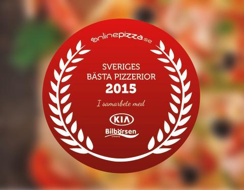 La stella är  Dalarnas bästa pizzeria 2015