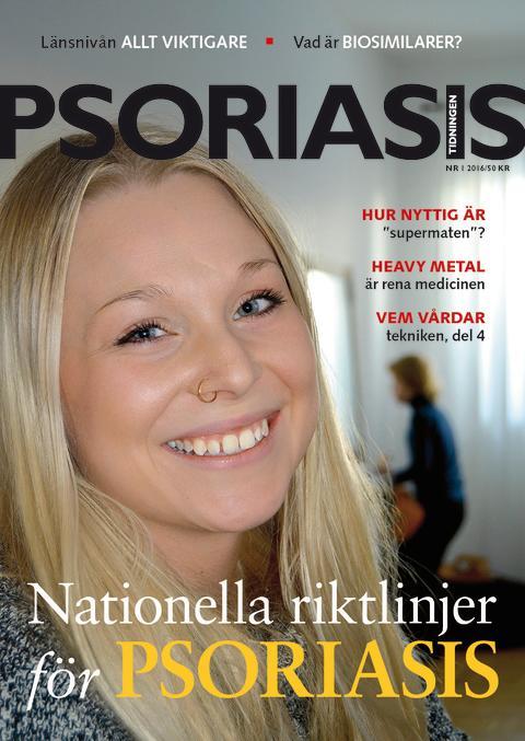 Framsida Psoriasistidningen nummer 1-2016