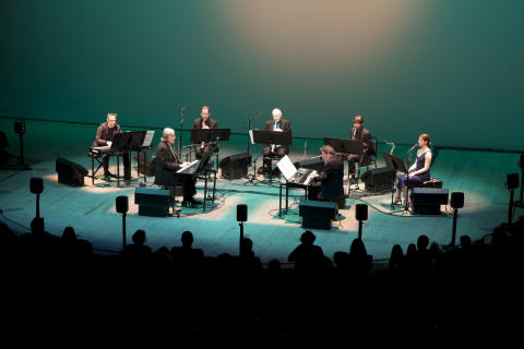The Philip Glass Ensemble. Photocredit: James Ewing