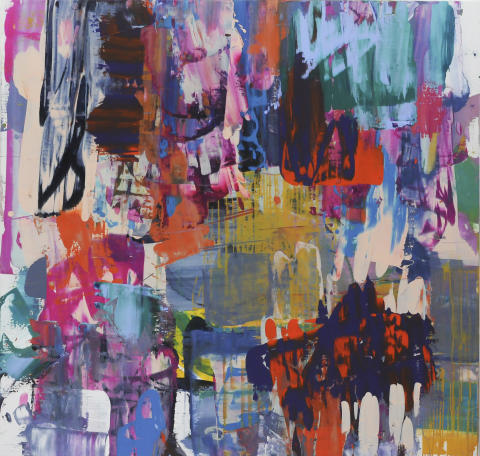 Astrid Sylwan, Mot natten (Towards The Night),2017, Acrylic on Canvas, 175x183cm