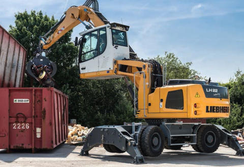 Liebherr LH 22 M Material Handling Machine at the MaskinExpo 2014