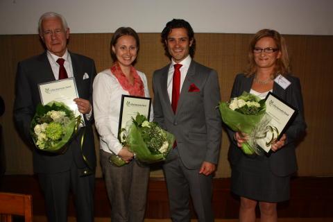 Prins Carl Philip delar ut pris för livsviktig forskning