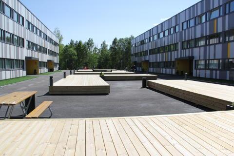 Nyoppusset bakgård i Johan Scharffenbergs vei 105.