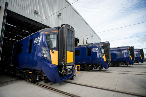 First UK-built train for Scotland completed by Hitachi  in the North East