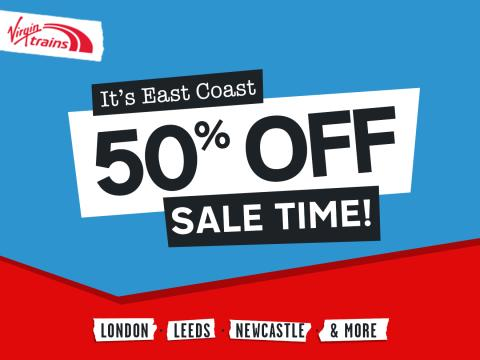 Beat Black Friday on the East Coast with Virgin Trains' half price seat sale