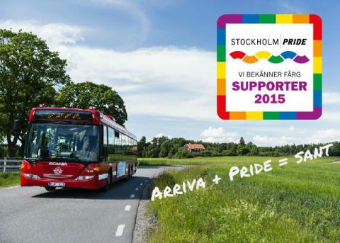 Arriva stolt supporter till Stockholm Pride