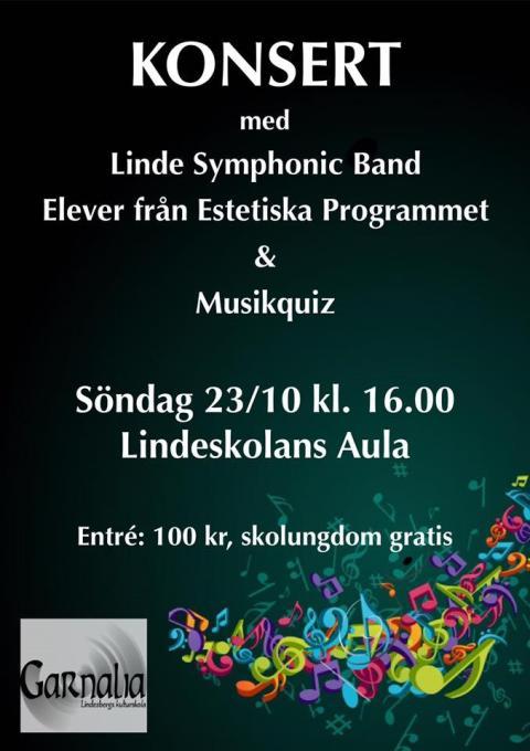 Konsert med Linde Symphonic Band och estetelever