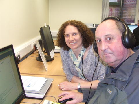 David gets 'sound' advice on jobs from Bury Library