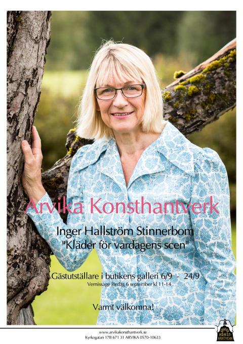 """""""Kläder för vardagens scen"""" Inger Hallström Stinnerbom ställer ut i Arvika"""