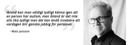Intervju med Mats Jansson från Autsim- och Asperger förbundet