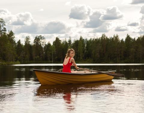 Frida Hyvönen på Berättarfestivalen
