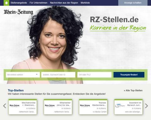 RZ-Stellen.de: stellenanzeigen.de und die Rhein-Zeitung gründen neuen regionalen Online-Stellenmarkt