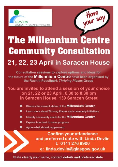 The Millennium Centre Community Consultation – Have Your Say