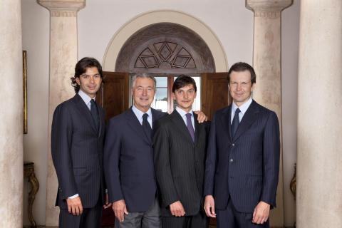 Gianni Zonin og hans tre sønner